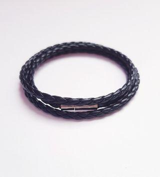 Unisex Three Laps PU Leather Bracelet Wristband