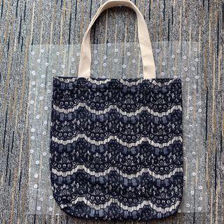 泰國lace手挽袋 -黑色