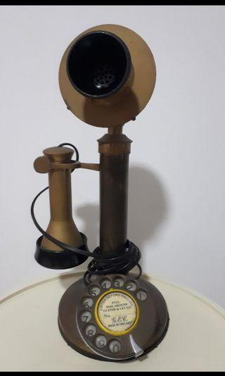 Working antique telephone / phone / candlestick, Made in England