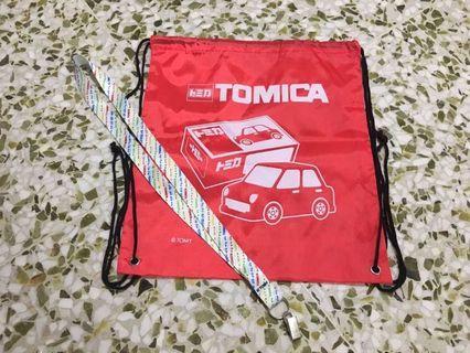 Tomica Drawstring bag and lanyard