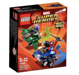 LEGO Marvel Mighty Micros: Spider-Man vs. Green Goblin (76064) (全新, 絕版, 未開封)