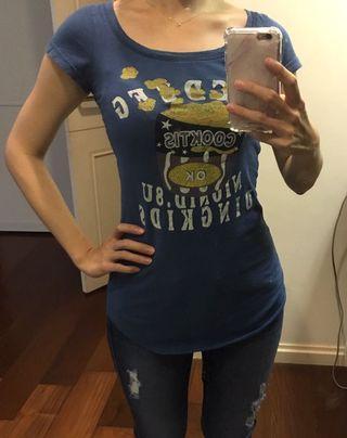 🚚 藍色長版上衣T恤