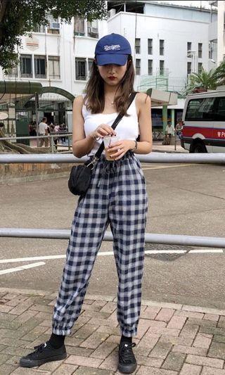 [INSTOCK]🤩 Ulzzang checkered grid tartan pants