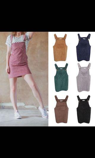 [INSTOCK]🤩Pink dungaree dress!