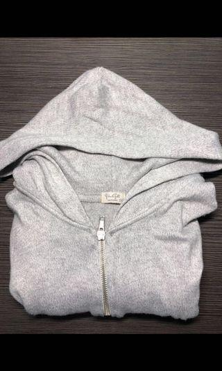 brandy melville grey hooded jacket