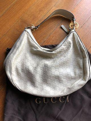 Gucci white hand bag