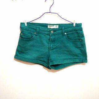 cotton on denim shorts in forest green