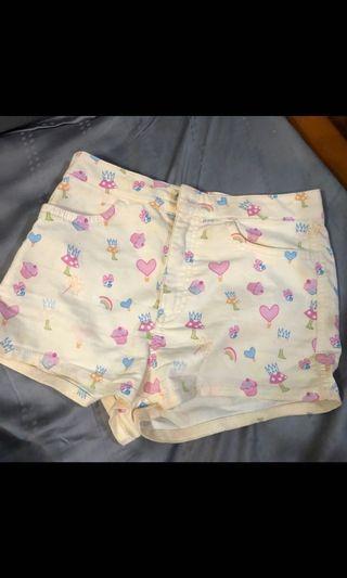 Topshop printed shorts