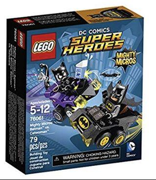LEGO DC Comics Super Heroes Mighty Micros: Batman vs. Catwoman 76061 (全新, 絕版, 未開封)