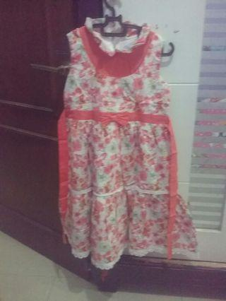 Dress Anak merk Donita warna peach