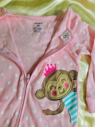 Brand new carters girl pink sleep suit
