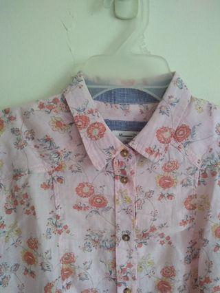 Massimo Dutti Ladies Fitted Floral Shirt