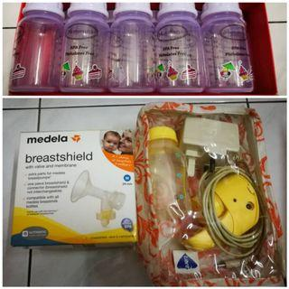 Medela Mini Electric Breastpump + 10pcs AUTUMNZ Storage Bottle