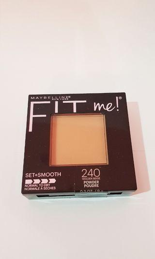 FIT ME set+smooth golden beige powder poudre