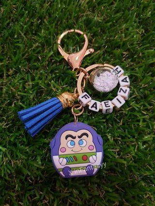 Buzz Lightyear Keychain with customised name