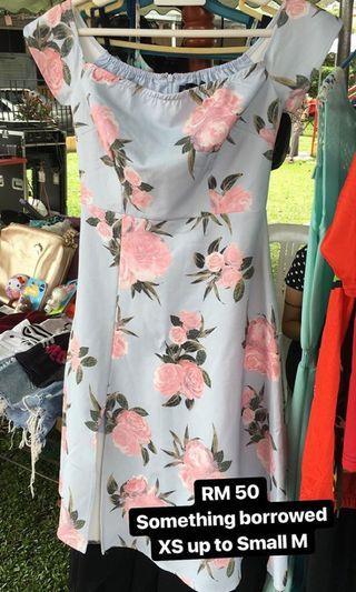 Something borrowed off shoulder dress