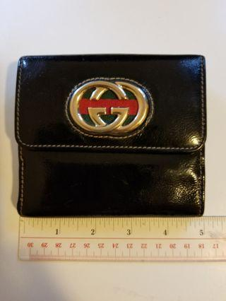 Gucci wallet潻皮(正品)黑色
