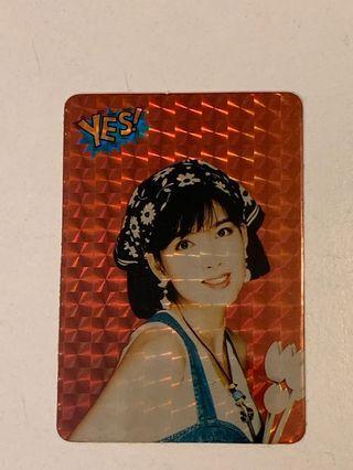 Yes card - Vivian 紅爆閃咭