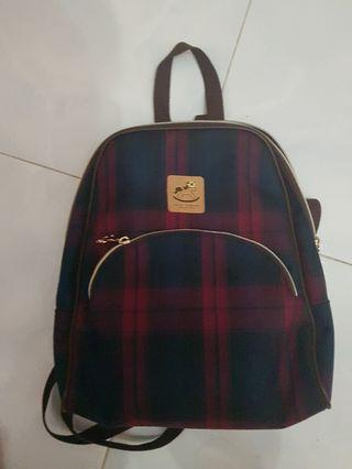 Uma Hana checked backpack