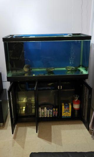 4ft Fish Tank with built-in filter and air pump