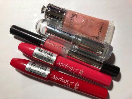 Etude house shiseido integrate shu uemura Jill Stuart lip stick lip gloss 5pcs/set