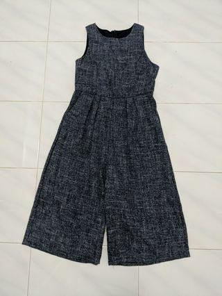 Office Jumpsuit with Back Zipper