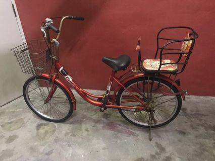 Bicycle with Baby seats + extra tube&tyre