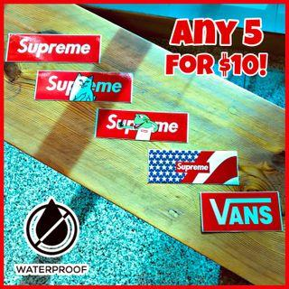 🔥Supreme, Vans, Nike, Adidas stickers and more! Apple/android/gucci/fred perry/sticker