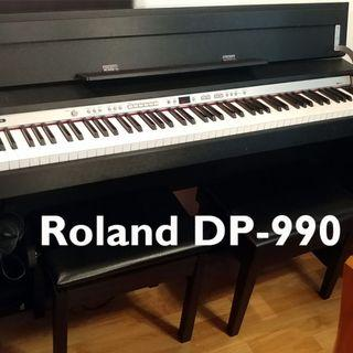 Roland Digital Piano DP-990, excellent condition, easy to transport and most compact full-size keyboard available.