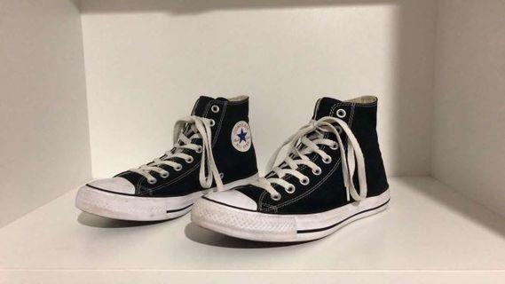 Converse High Tops Black Men's 8