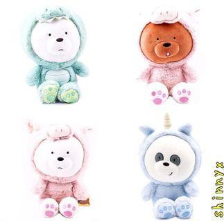 30CM AUTHENTIC MINISO COSTUME WE BARE BEARS  ; FREE DELIVERY! 😍
