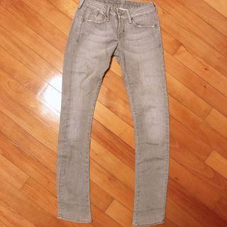 G star 貼身淺灰色牛仔褲