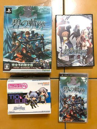 🚚 PSP【英雄傳說 碧之軌跡 完全預約限定版】 (含黏土人模型 2 隻 / Drama CD)