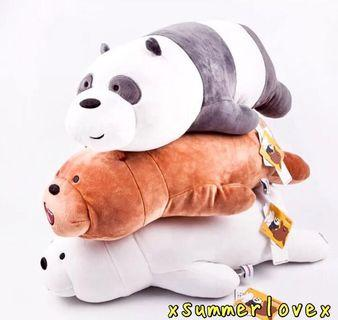 53CM AUTHENTIC CARTOON NETWORK LYING WE BARE BEARS+FREE HOME DELIVERY!😍