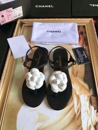 db232a26d121 40 SALE Chanel Sandals Chanel Camellia Sandals CC Sandals CC Camellia Sandals  Chanel Summer Shoes Chanel