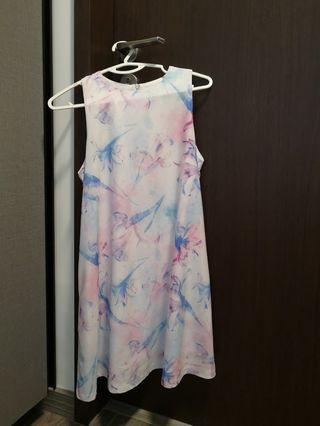 Floral Trapeze Swing Dress