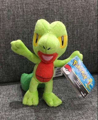 Tomy USA Pokemon sitting down plushy mascot Treecko