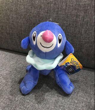 Tomy USa Pokemon popplio sitting down plushy mascot