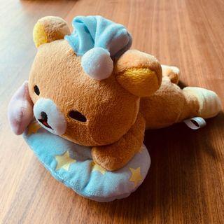 包郵正版Rilakkuma鬆弛熊趴睡毛公仔輕鬆小熊