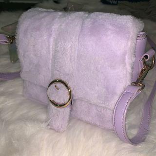 Lilac fluffy bag