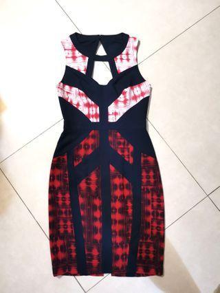 BCBGMAXAZRIA pattern dress US size 6