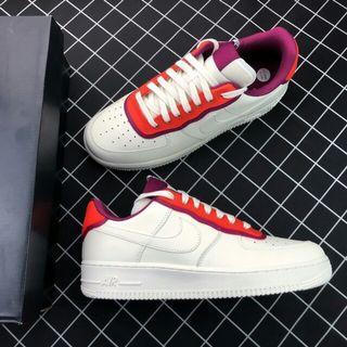 Nike Sportswear Air Force 1 Low 正漿果紅色搭配裝飾呈現