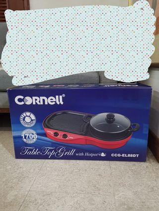 Cornell Table Top Grill with Hotpot