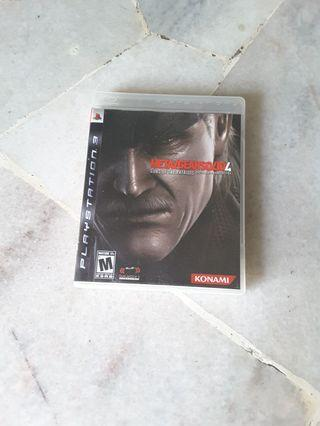 Ps3 Game - Metal Gear Solid 4