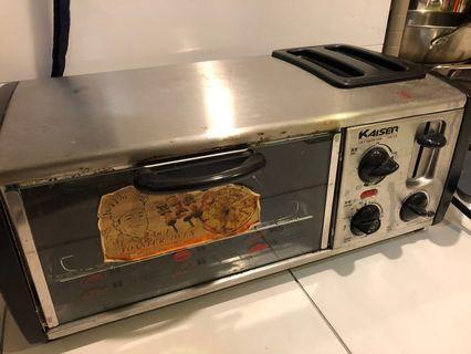 🚚 (車庫拍賣) 原價2980 Kaiser 威寶烤箱/吐司機二合一