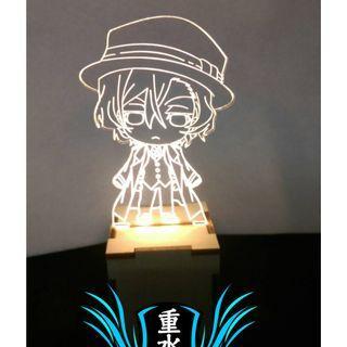 Q版 文豪野犬 暖白光 小夜燈 氣氛燈 裝飾燈 收藏燈