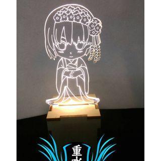 不起眼女主角培育法 加藤惠 和服 暖白光 小夜燈 氣氛燈 裝飾燈 收藏燈