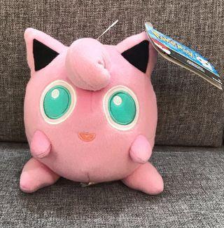 Jigglypuff pokemon Tomy USA sitting down plushy mascot