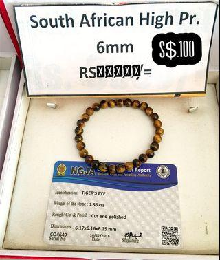 🚚 8mm,South African high precious Tiger eye bracelet with SriLankan brief report.