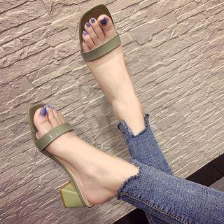 Green Sandle size 35/36/37/38/39